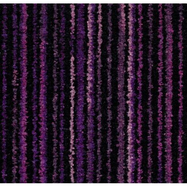 Cleartex Welcome beltéri textil lábtörlő 200 cm tekercs szélességben, 260 cm hosszú, 3219 lila színben