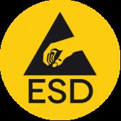 ESD védett területre